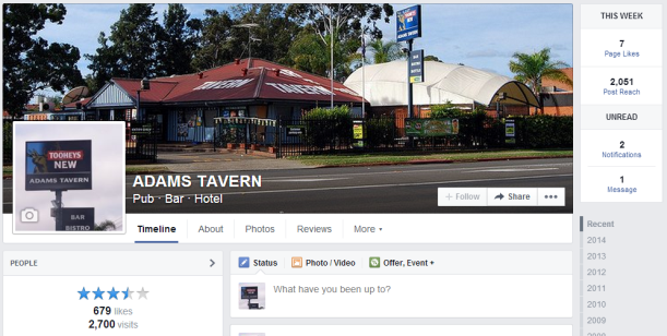 Adams Tavern Facebook